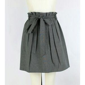 Theory gray pleated skirt